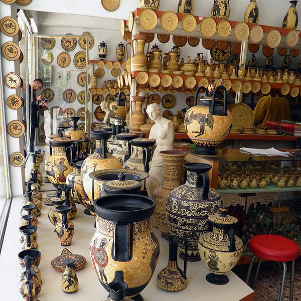 Ancient Greek Pottery Artist Shop Original Handmade
