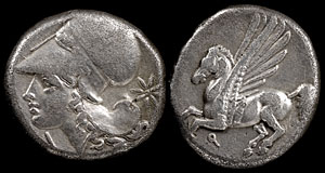 Winged Horse Pegasus on Ancient Coins